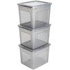 IRIS Modular Plastic Storage Box (Set of 3)