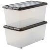 IRIS Carry Stocker Plastic Storage Box (Set of 2)