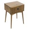 Castleton Home Feng 1 Drawer Bedside Table