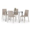 All Home Enzo Dining Set with 4 Chairs