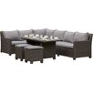 Prestington Ebony 8 Seater Sectional Sofa Set