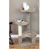 "New Cat Condos 46"" New Cat Condos Solid Wood Triple Kitty Pad"
