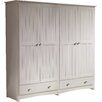 Beachcrest Home Fitzsimmons 4 Door Wardrobe