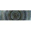 Vintage Boulevard Sequined Mandala IV Framed Wall Art on Canvas in Blue