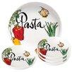 Lorren Home Trends 5 Piece Vegetable Design Porcelain Pasta Bowl Set