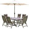 Prestington Florence 6 Seater Dining Set with Parasol