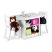 Relaxdays Wooden Children's 3 Piece Rectangle Table and Chair Set