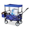 Relaxdays 113cm x 54cm x 115cm Roof Foldable Rubber Wheels Hand Truck Trolley