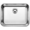 Blanco Supra 53cm x 43cm Single Bowl Undermount Kitchen Sink with Overflow and Basket Strainer Waste