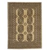 Caracella Afghan Hand-Woven Wool Gold Area Rug