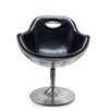 Home Elements Aviator Bonded Leather Cocktail Chair