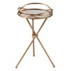 Home & Haus Leslie Mirrored Side Table