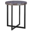 Castleton Home Fusion Crackle Mosaic Round Side Table