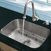 VIGO 23 inch Undermount Single Bowl 18 Gauge Stainless Steel Kitchen Sink with Harrison Stainless Steel Faucet, Grid, Strainer and Soap Dispenser