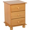 Andover Mills Dea 3 Drawer Bedside Table
