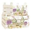 Bel Étage Lavender Crates Wood Organiser Box (Set of 2)