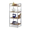 Relaxdays Bamboo 95cm 4 Shelf Shelving Unit