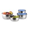 Relaxdays Stainless Steel 4 Piece Food Storage Container Set
