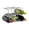 Relaxdays Stainless Steel 9 Bottle Table Top Wine Rack