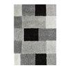Hokku Designs Casa Area Rug in Grey/Black