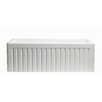 "Empire Industries Sutton Place Reversible Single Bowl Fluted Front Fireclay 33"" x 18"" Farmhouse Kitchen Sink and Grid"
