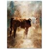 Trademark Fine Art 'Calf in the Sunday Sun' Textual Art on Wrapped Canvas