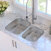 "Kraus 32"" x 20.63"" Double Basin Undermount Kitchen Sink"