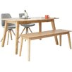 Fjørde & Co Frances Dining Table and 2 Chairs and Bench
