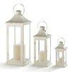 Darby Home Co 3 Piece Metal/Glass Lantern Set (Set of 3)
