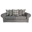 Hazelwood Home Scarpa Pillow Back 3 Seater Sofa