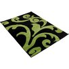 Wade Logan Finsbury Black/Green Area Rug