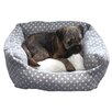 Rosewood Pet Products 40 Winks Spot Dog Bed in Grey and White
