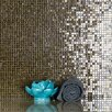"""Abolos Galaxy Straight 0.31"""" x 0.31"""" Glass Mosaic Tile in Glazed Brushed gold"""