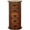 World Menagerie Sanabria 5 Drawer Bedside Table