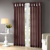 Lark Manor Rivau Solid Semi-Sheer Tab top Single Curtain Panel
