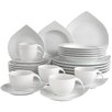 Creatable Porcelain Combo Service 30 Piece Dinnerware Set, Service for 6