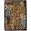 DonnieAnn Company Skinz 74 Mixed Brown Animal Skin Prints Patchwork Area Rug