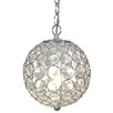 Naeve Leuchten Crystallo Decorative 1 Light Globe Pendant
