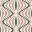 """Brewster Home Fashions Geo Hendrix Gravure Ogee 33' x 20.5"""" 3D Embossed Wallpaper Roll"""