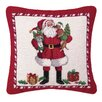 Peking Handicraft Hook Christmas Puppies Needlepoint Wool Throw Pillow