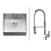 """Ruvati 23"""" x 20"""" Kitchen Sink with Faucet"""