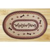 Earth Rugs Wipe Your Paws Printed Area Rug