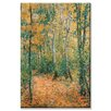 Buyenlarge Wood Lane Painting Print on Wrapped Canvas