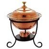 Old Dutch International Round 3 Qt. Decor Copper Chafing Dish