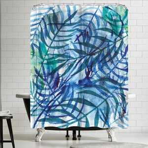 Paula Mills Nature in Blue No 3 Shower Curtain East Urban Home