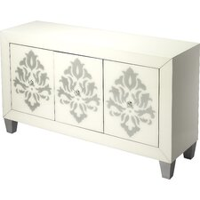 Periwinkle Olana Damask 3 Door Chest by House of Hampton