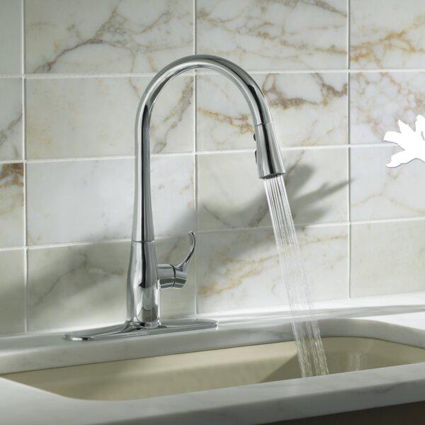 kohler simplice kitchen sink faucet with 16 58 pull down spout reviews wayfair. Interior Design Ideas. Home Design Ideas