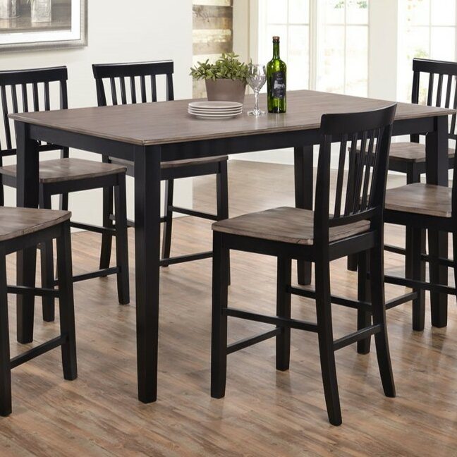 Counter Height Rustic  Farmhouse Kitchen  Dining Tables Youll - Counter height dining table with leaf