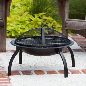 Brookdale Steel Wood Burning Fire Pit by Charlton Home