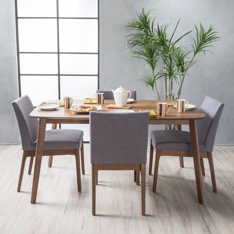 langley street tunis 5 piece dining set & reviews | wayfair